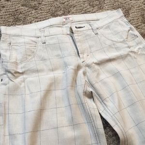 Free People white and blue wide legged pants - 10